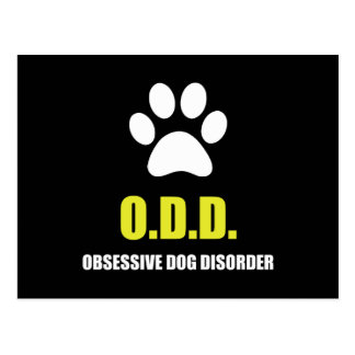 Obsessive Dog Disorder Postcard