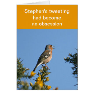 Obsessive tweeting card