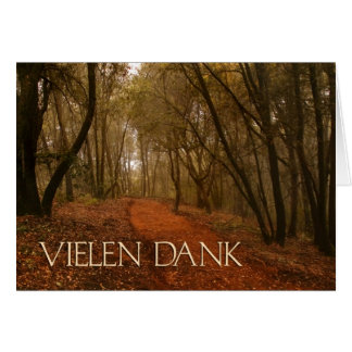 OBSOLETE DESIGN: Vielen Dank German Thank You Card