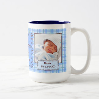 OBSOLETE: Grandfather | Baby Blue Plaid Two-Tone Coffee Mug