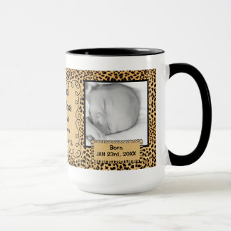 OBSOLETE: Grandma | New Baby Cheetah Photo Mug