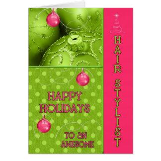 OBSOLETE Hair Stylist Funky Christmas Card