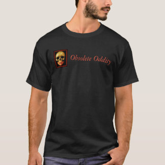 ObsoleteOddity Skull Logo Men's Black T-shirt