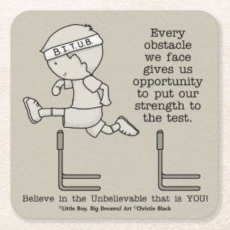 Obstacles Square Paper Coaster