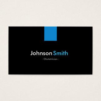Obstetrician Modern Aqua Blue Business Card