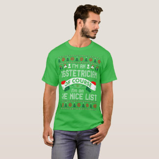 Obstetrician On Nice List Christmas Ugly Sweater