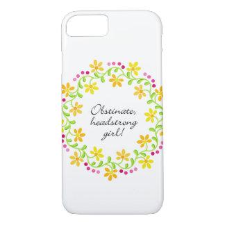 Obstinate headstrong girl Austen Pride & Prejudice iPhone 8/7 Case