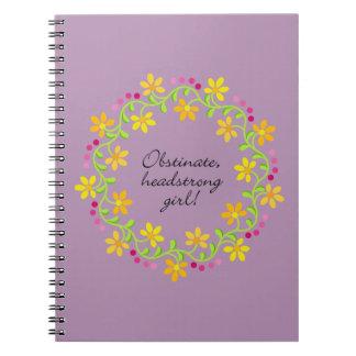 Obstinate headstrong girl Austen Pride & Prejudice Notebook