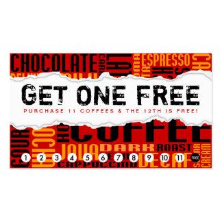 obtenez 1 CAFÉ libre Carte De Visite