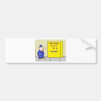 obtenez votre distributeur automatique ged autocollant de voiture