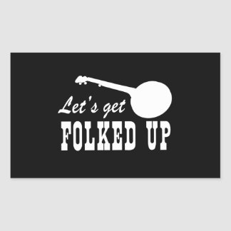 Obtenons Folked Stickers Rectangulaires
