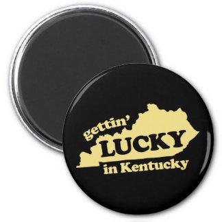 obtention chanceuse au Kentucky Magnet Rond 8 Cm