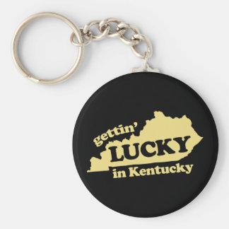 obtention chanceuse au Kentucky Porte-clé Rond