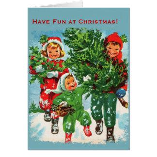 Obtention de la carte de Noël d'arbre de Noël