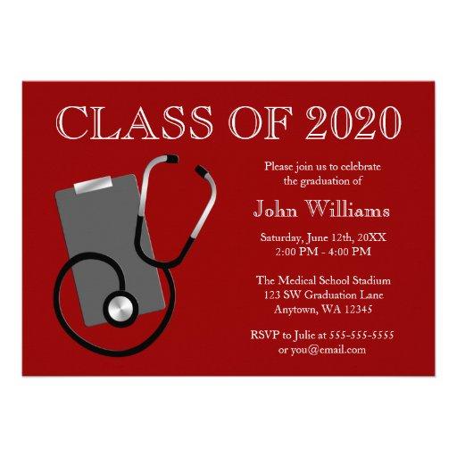 Obtention du diplôme médicale de rouge d'école d'i bristols personnalisés