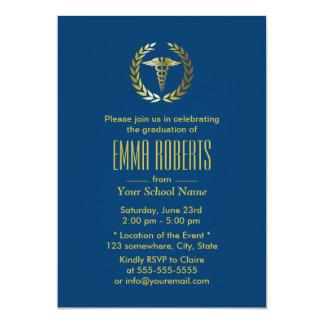 Obtention du diplôme médicale ou d'école carton d'invitation  12,7 cm x 17,78 cm