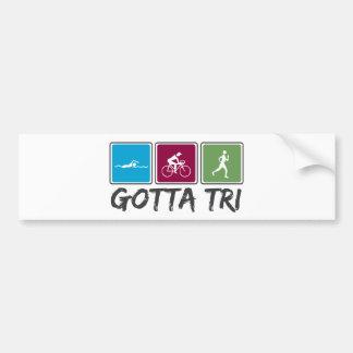 obtenu à tri (triathlon) autocollant de voiture