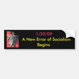 OBUMMER: A New Error of Socialism Begins Bumper Sticker