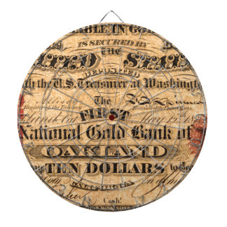 Obverse of a $10 National Gold Bank Note ca. 1870 Dartboards