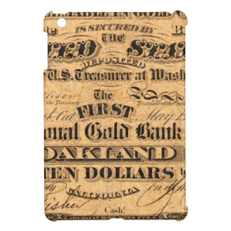 Obverse of a $10 National Gold Bank Note ca. 1870 iPad Mini Case