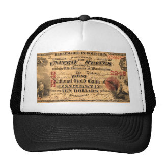 Obverse of a $10 National Gold Bank Note ca. 1870 Trucker Hat