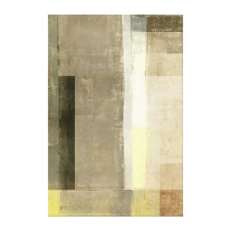'Obvious' Brown and Yellow Abstract Art Canvas Print