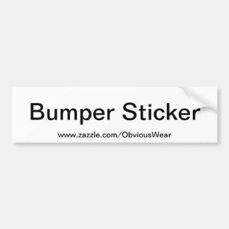 Obvious Bumper Sticker