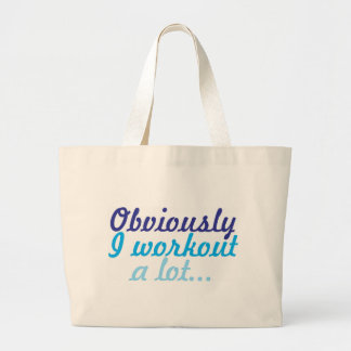 Obviously I workout a lot Jumbo Tote Bag
