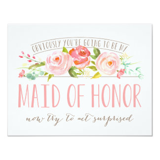 Obviously Maid Of Honor Rose Garden Card