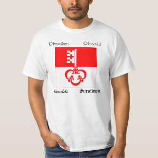 Obwalden Four Language Swiss Canton Flag T-Shirt
