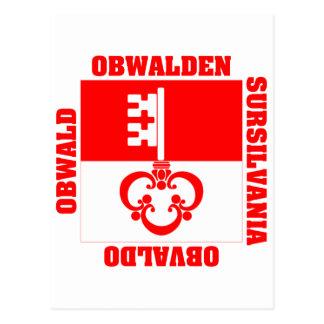 Obwalden Switzerland Canton Flag Postcards