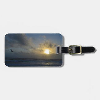 OBX Beach Sunrise Luggage Tag