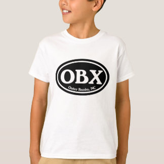OBX Outer Banks Black Oval Shirt