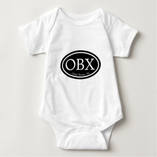 OBX Outer Banks Black Oval T-shirt