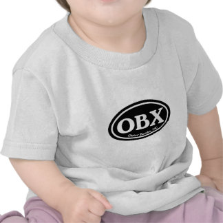 OBX Outer Banks Black Oval T-shirts