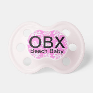 OBX Outer Banks NC Pink Baby Pacifier