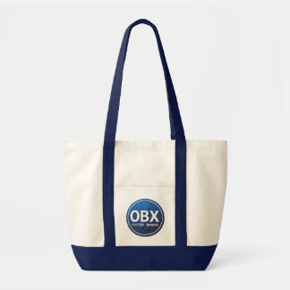 OBX Outer Banks NC Pink Blue Beach Tag Tote Bag