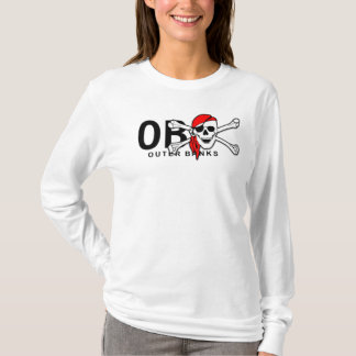 OBX Outer Banks NC Skull and Crossbones Pirate T-Shirt