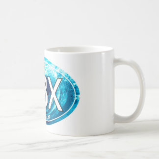 OBX Outer Banks Wave Oval Classic White Coffee Mug