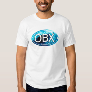 OBX Outer Banks Wave Oval Tshirt