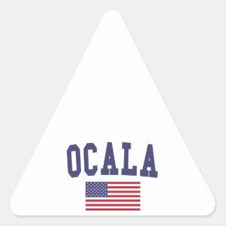 Ocala US Flag Triangle Sticker