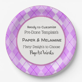 Occasions-Stylish-Fun-Design's-Custom-Template's Paper Plate