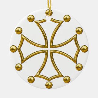 occitan cross ceramic ornament