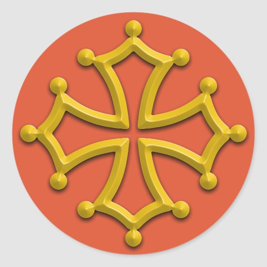 Occitania Cross Sticker