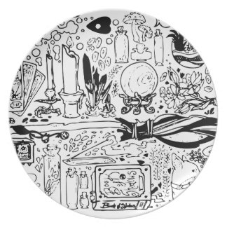 Occult and Magic Party Plates