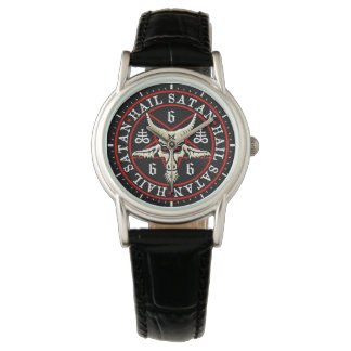 Occult Baphomet Goat in Pentagram Wrist Watch