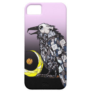 Occult Crow Sitting By The Moon Phone Case