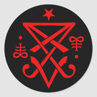 Occult Sigil of Lucifer Satanic Round Sticker