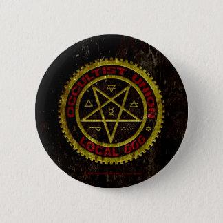 OCCULTIST UNION LOCAL 666    019 2 INCH ROUND BUTTON