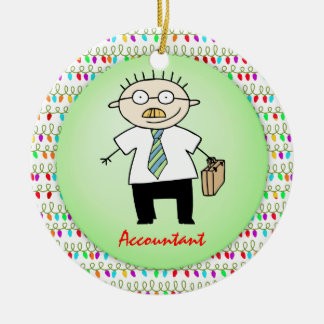 Occupation Accountant Guy Funny  Personalized Ceramic Ornament